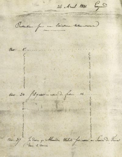 Lettre de Marchand à Alexandre Walewski, avec instructions testamentaires de Napoléon - Patrimoine Charles-André COLONNA WALEWSKI, en ligne directe de Napoléon
