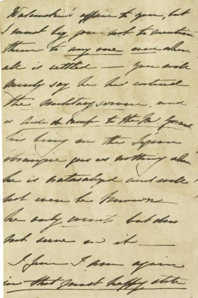 Lettre de la comtesse Walewska à la comtesse de Sandwich - Patrimoine Charles-André COLONNA WALEWSKI, en ligne directe de Napoléon