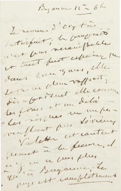 Lettre d'Alexandre I Walewski à son épouse - Patrimoine Charles-André COLONNA WALEWSKI, en ligne directe de Napoléon
