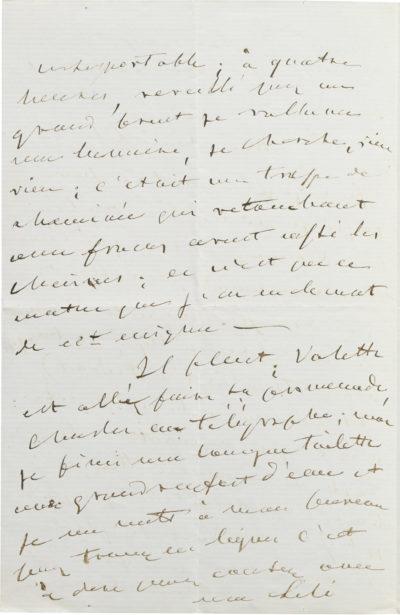 Lettre d'Alexandre Walewski I à Lili - Patrimoine Charles-André COLONNA WALEWSKI, en ligne directe de Napoléon