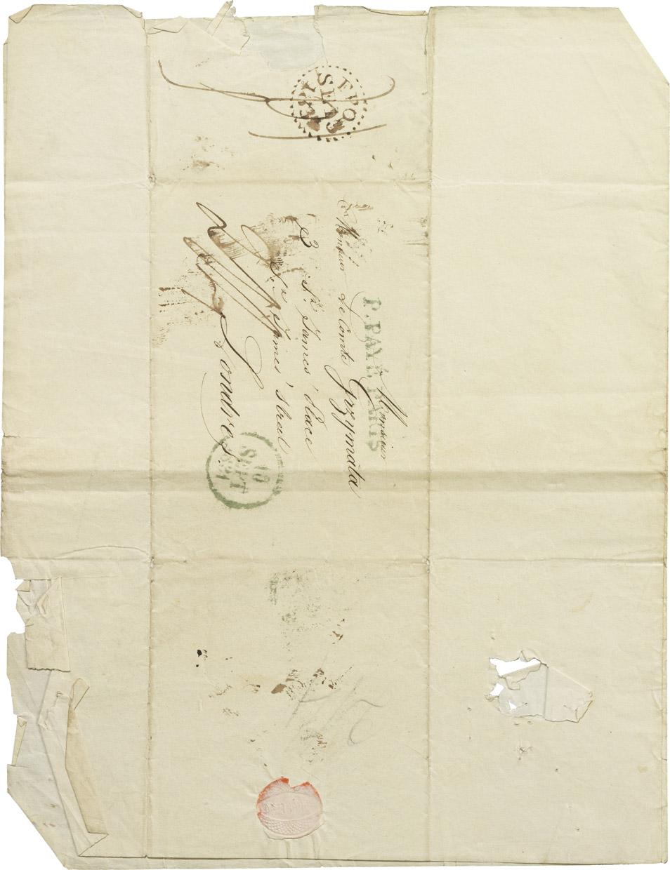 Lettre au comte Grzymala concernant Walewski - Patrimoine Charles-André COLONNA WALEWSKI, en ligne directe de Napoléon