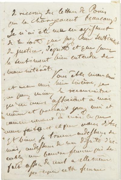 Lettre du comte Walewski au comte Tanski, sur sa liaison avec Rachel - Patrimoine Charles-André COLONNA WALEWSKI, en ligne directe de Napoléon