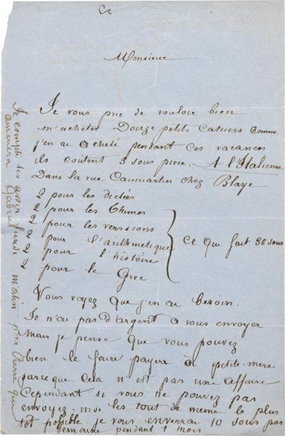 Lettre d'Alexandre II Walewski à Bellevaut - Patrimoine Charles-André COLONNA WALEWSKI, en ligne directe de Napoléon