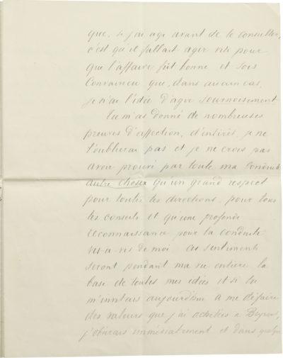 Lettre d'Alexandre II Walewski à son père Alexandre I Walewski - Patrimoine Charles-André COLONNA WALEWSKI, en ligne directe de Napoléon