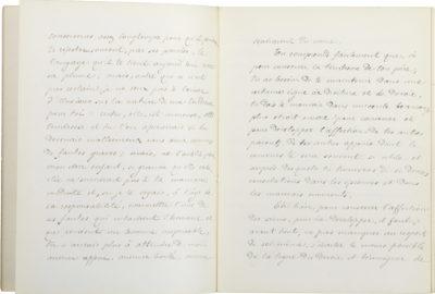 """""""A mon fils"""", manuscrit d'Alexandre II Walewski - Patrimoine Charles-André COLONNA WALEWSKI, en ligne directe de Napoléon"""