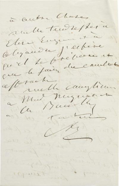 Lettre d'Alexandre I à son fils Charles Walewski. - Patrimoine Charles-André COLONNA WALEWSKI, en ligne directe de Napoléon
