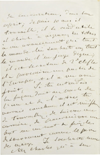 Lettre d'Alexandre I à Charles Walewski - Patrimoine Charles-André COLONNA WALEWSKI, en ligne directe de Napoléon
