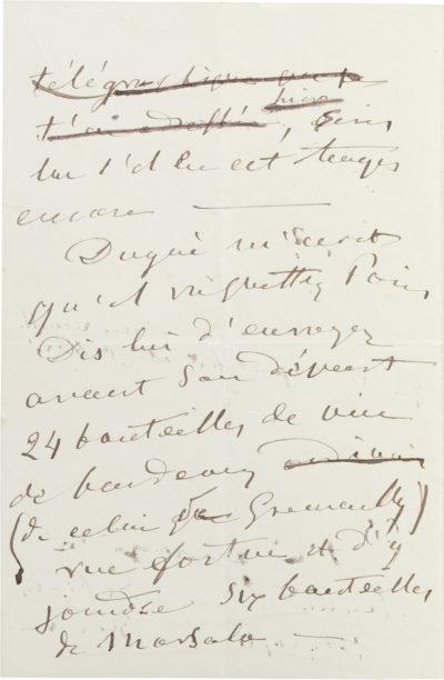 Lettre d'Alexandre I à son fils Charles Walewski - Patrimoine Charles-André COLONNA WALEWSKI, en ligne directe de Napoléon