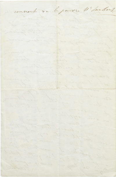 Lettre de Rachel à sa mère - Patrimoine Charles-André COLONNA WALEWSKI, en ligne directe de Napoléon