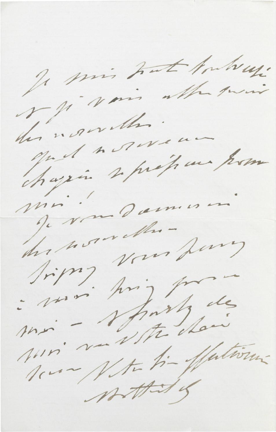 Lettre de la princesse Mathilde à Dinah Félix - Patrimoine Charles-André COLONNA WALEWSKI, en ligne directe de Napoléon