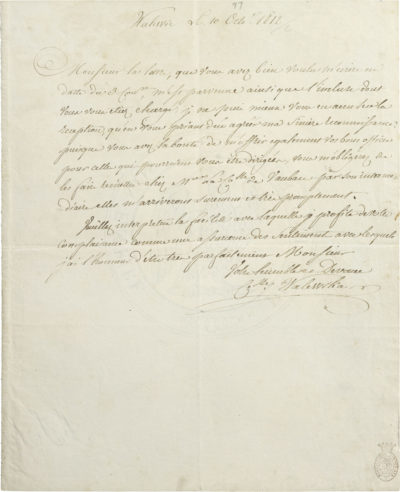 Lettre autographe de Marie Walewska - Patrimoine Charles-André COLONNA WALEWSKI, en ligne directe de Napoléon