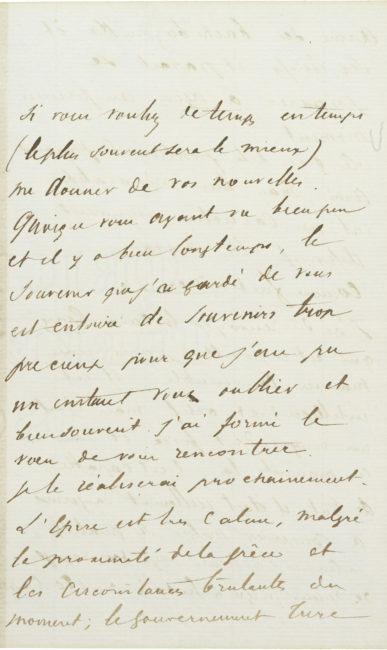 Lettre d'Alexandre II Walewski à Aubaret - Patrimoine Charles-André COLONNA WALEWSKI, en ligne directe de Napoléon
