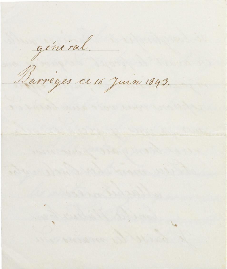 Lettre d'Emilie Walewska à Rodolphe d'Ornano - Patrimoine Charles-André COLONNA WALEWSKI, en ligne directe de Napoléon
