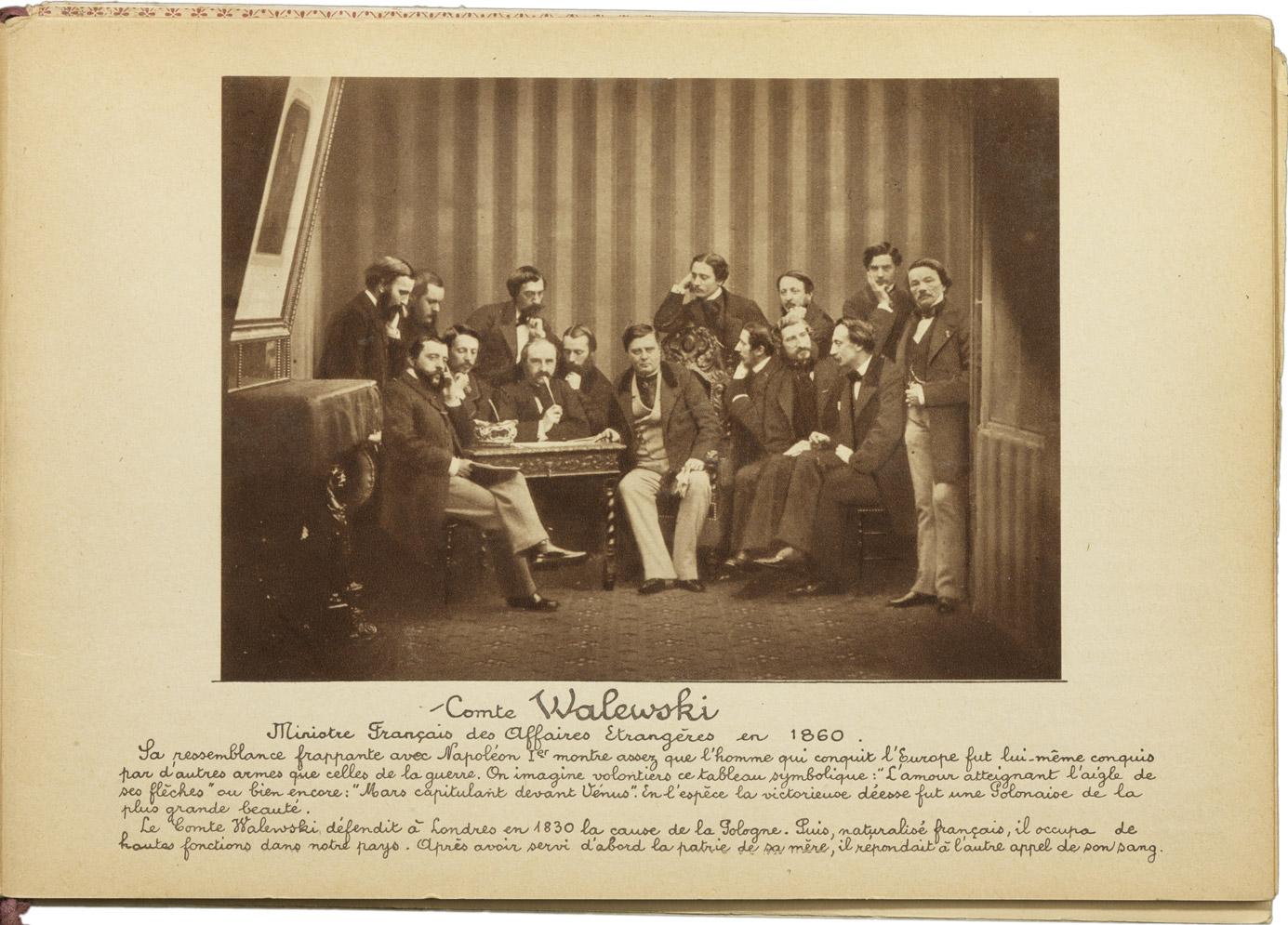 Photographie d'Alexandre Walewski, Ministre des Affaires Étrangères - Patrimoine Charles-André COLONNA WALEWSKI, en ligne directe de Napoléon