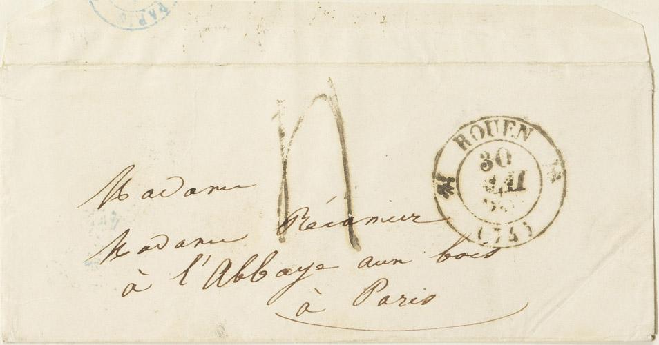Lettre de Rachel à Mme Récamier - Patrimoine Charles-André COLONNA WALEWSKI, en ligne directe de Napoléon