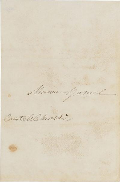 Lettre d'Alexandre I Walewski - Patrimoine Charles-André COLONNA WALEWSKI, en ligne directe de Napoléon