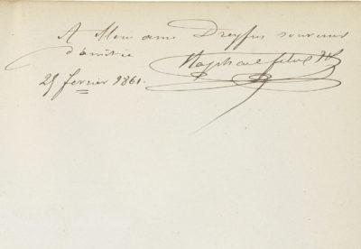 """""""Rachel et la tragédie"""", dédicacé par Raphaël Félix - Patrimoine Charles-André COLONNA WALEWSKI, en ligne directe de Napoléon"""