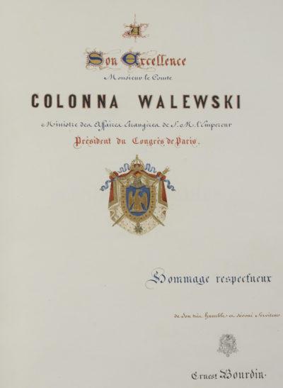 """Livre """"Galerie des plénipotentiaires au Congrès de Paris"""" - Patrimoine Charles-André COLONNA WALEWSKI, en ligne directe de Napoléon"""