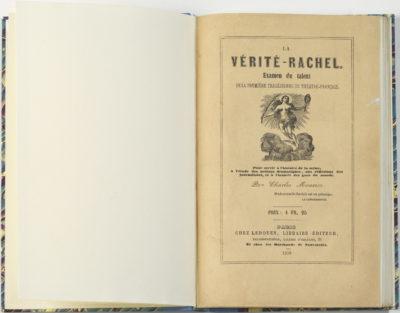 """""""La vérité-Rachel"""" par Charles Maurice - Patrimoine Charles-André COLONNA WALEWSKI, en ligne directe de Napoléon"""