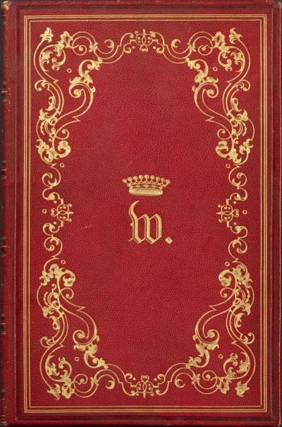 Livre aux chiffre couronné des Walewski - Patrimoine Charles-André COLONNA WALEWSKI, en ligne directe de Napoléon