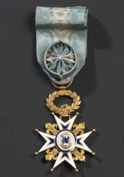 Croix d'Officier de l'Ordre de Charles III (Espagne) - Patrimoine Charles-André COLONNA WALEWSKI, en ligne directe de Napoléon