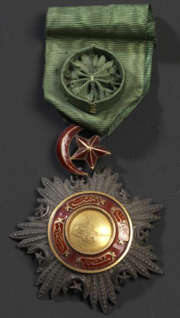 Étoile d'Officier de l'Ordre du Medjidjie (Turquie) - Patrimoine Charles-André COLONNA WALEWSKI, en ligne directe de Napoléon