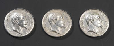 Trois jetons de membre du corps législatif - Patrimoine Charles-André COLONNA WALEWSKI, en ligne directe de Napoléon