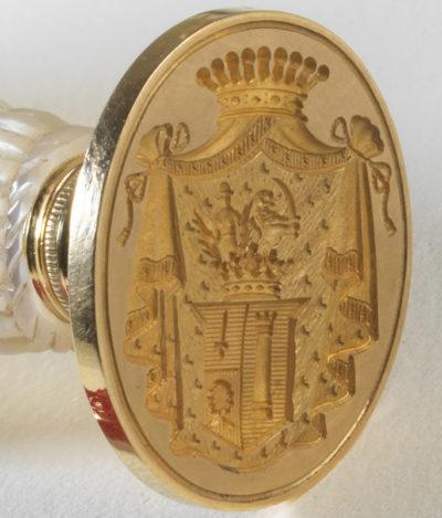 Cachet anglais d'Alexandre Colonna Walewski - Patrimoine Charles-André COLONNA WALEWSKI, en ligne directe de Napoléon