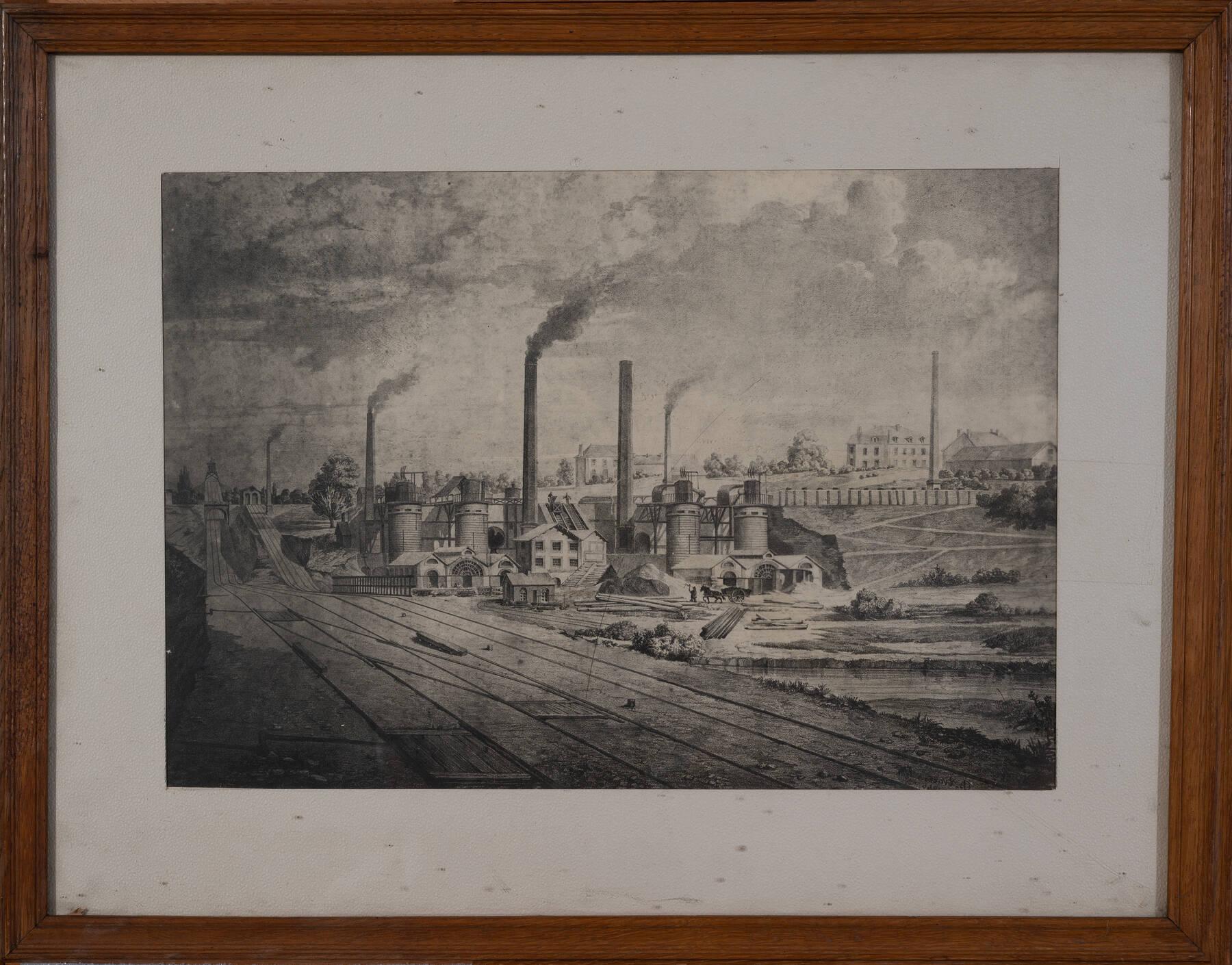 Vue de l'usine de Pont à Mousson