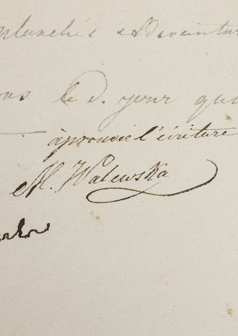 Bail de la maison Walewska, signé par Marie et son frère - Patrimoine Charles-André COLONNA WALEWSKI, en ligne directe de Napoléon
