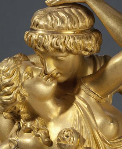 """Importante pendule : """"Le couple enlacé"""" - Patrimoine Charles-André COLONNA WALEWSKI, en ligne directe de Napoléon"""