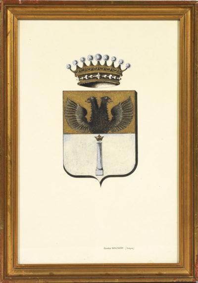 Cinq dessins d'armoiries liées à la famille Colonna Walewski - Patrimoine Charles-André COLONNA WALEWSKI, en ligne directe de Napoléon