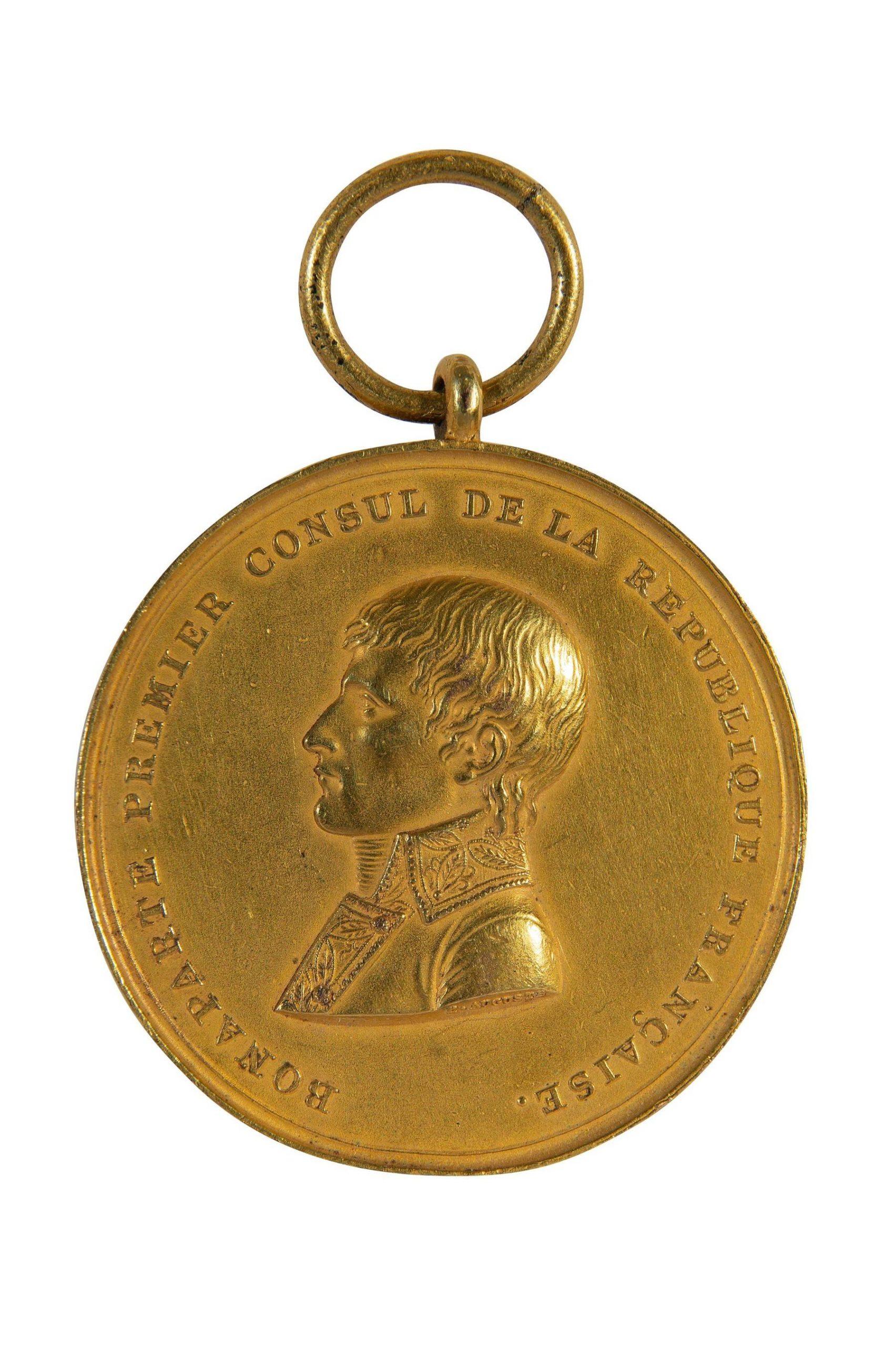 Médaille Bonaparte premier consul, par la ville de Lille