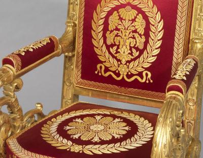 Mobilier de salon Louis XVIII - Patrimoine Charles-André COLONNA WALEWSKI, en ligne directe de Napoléon