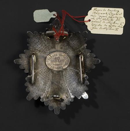 Plaque de l'ordre du DANNEBORG (Royaume de Danemark) - Patrimoine Charles-André COLONNA WALEWSKI, en ligne directe de Napoléon