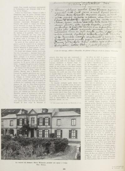 """""""La fin de Marie Walewska"""" article de l'Illustration - Patrimoine Charles-André COLONNA WALEWSKI, en ligne directe de Napoléon"""
