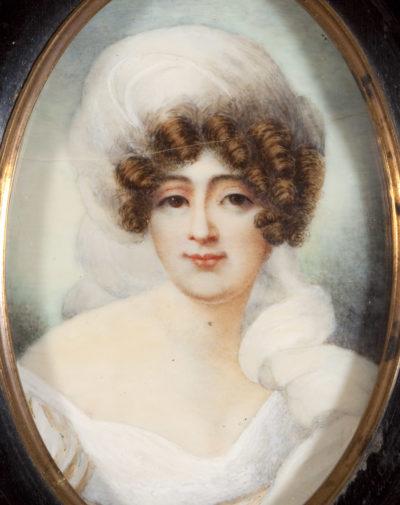 Miniature de Marie Walewska par Isabey - Patrimoine Charles-André COLONNA WALEWSKI, en ligne directe de Napoléon