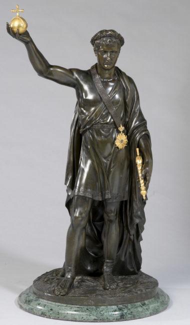 Napoléon Ier vainqueur, bronze de Thomire - Patrimoine Charles-André COLONNA WALEWSKI, en ligne directe de Napoléon