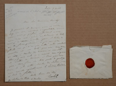 Lettre à Monsieur Morlot - Patrimoine Charles-André COLONNA WALEWSKI