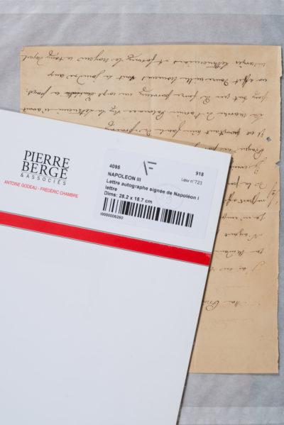 Lettre autographe signée de Napoléon 1er - Patrimoine Charles-André COLONNA