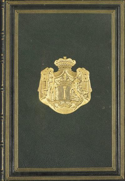 """""""La fille de Molière"""" de Fournier relié aux armoiries Colonna Walewski - Patrimoine Charles-André COLONNA WALEWSKI, en ligne directe de Napoléon"""