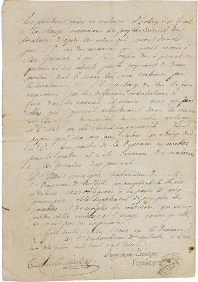 Bail de la Maison Walewska, entre Grenier et Metternich - Patrimoine Charles-André COLONNA WALEWSKI, en ligne directe de Napoléon