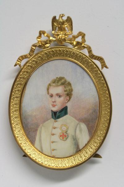 Miniature : Portrait du duc de Reichstadt - Patrimoine Charles-André COLONNA WALEWSKI, en ligne directe de Napoléon