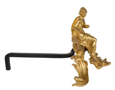 Chenets Vulcain et Venus - Patrimoine Charles-André COLONNA WALEWSKI, en ligne directe de Napoléon