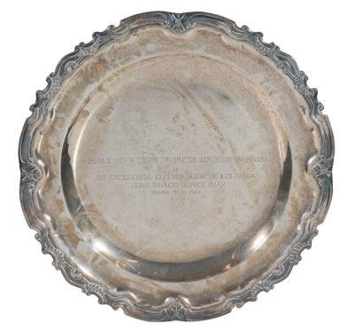Plateau en argent, 1953 - Patrimoine Charles-André COLONNA WALEWSKI