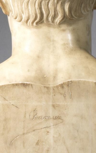 Buste de Napoléon signé Ramier - Patrimoine Charles-André COLONNA WALEWSKI, en ligne directe de Napoléon