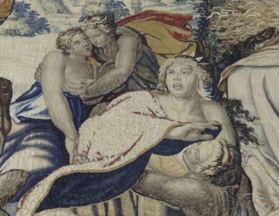 Tapisserie : Diane tuant les enfants de Niobé - Patrimoine Charles-André COLONNA WALEWSKI, en ligne directe de Napoléon