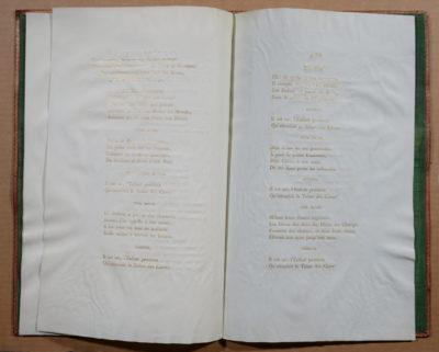 Textes imprimés en lettre d'or sur vélin - Patrimoine Charles-André COLONNA WALEWSKI